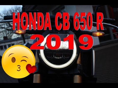 2019 Honda CB 650 R Neo Sports Cafe Walkaround + Detail + Sound 4K