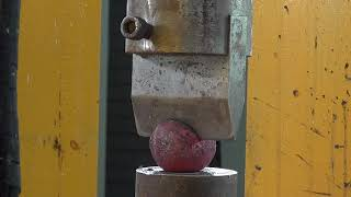 Hydraulic press challenges the strongest steel