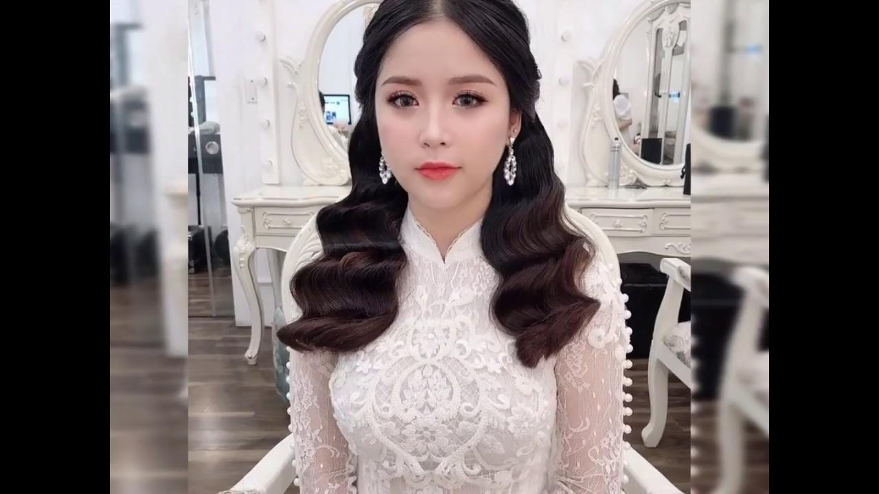 """Hướng dẫn kiểu tóc """"Hot trend"""" tóc sóng nước mượt Hàn Quốc 2019 – Mai Đỗ Makeup"""