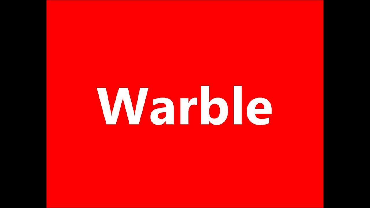 Cartoon Warble Sound Effect (Finally found it)