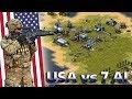 Red Alert 2 - 1 vs 7 Brutal AI - North America Map