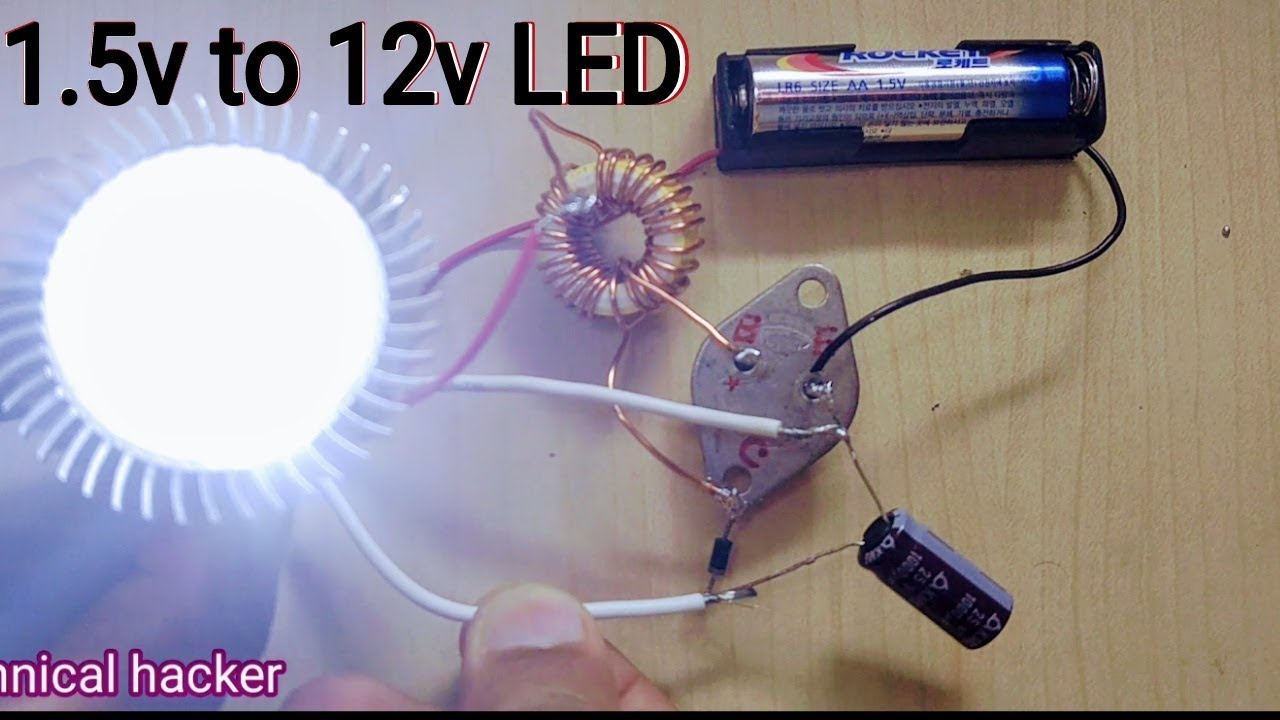 Capacitors Added To Led Bulb Driver Circuit How Make 15v 12v Inverter Diy Youtube