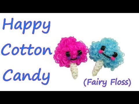 Happy Cotton Candy (Fairy Floss) Tutorial by feelinspiffy (Rainbow Loom)