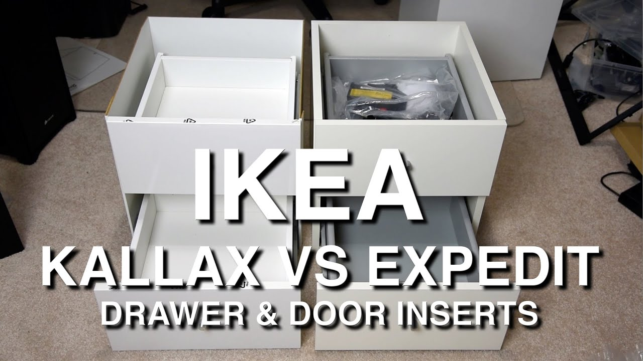 Ikea Drawers Ikea Kallax Vs Expedit Shelf Insert Comparison - Youtube