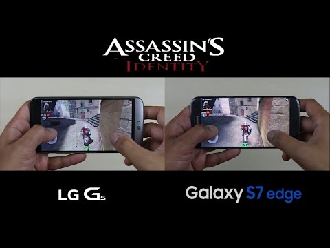 LG G5 vs Samsung Galaxy S7 Edge - Gaming/Screen Display Test Comparison Review!