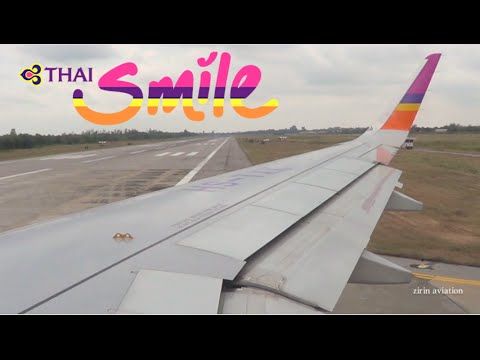 Thai Smile Airways Airbus A320-232 Takeoff Udon Thani-UTH (WE005)