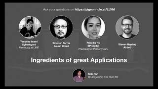Panel: Ingredients of Great Applications - iOS Conf SG 2019