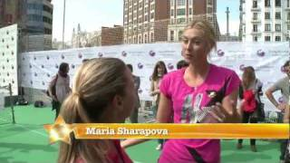 Maria Sharapova chats to Dominika Cibulkova in Madrid (CC Subtitles)