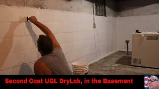 Second Coat UGL DryLok, in the Basement
