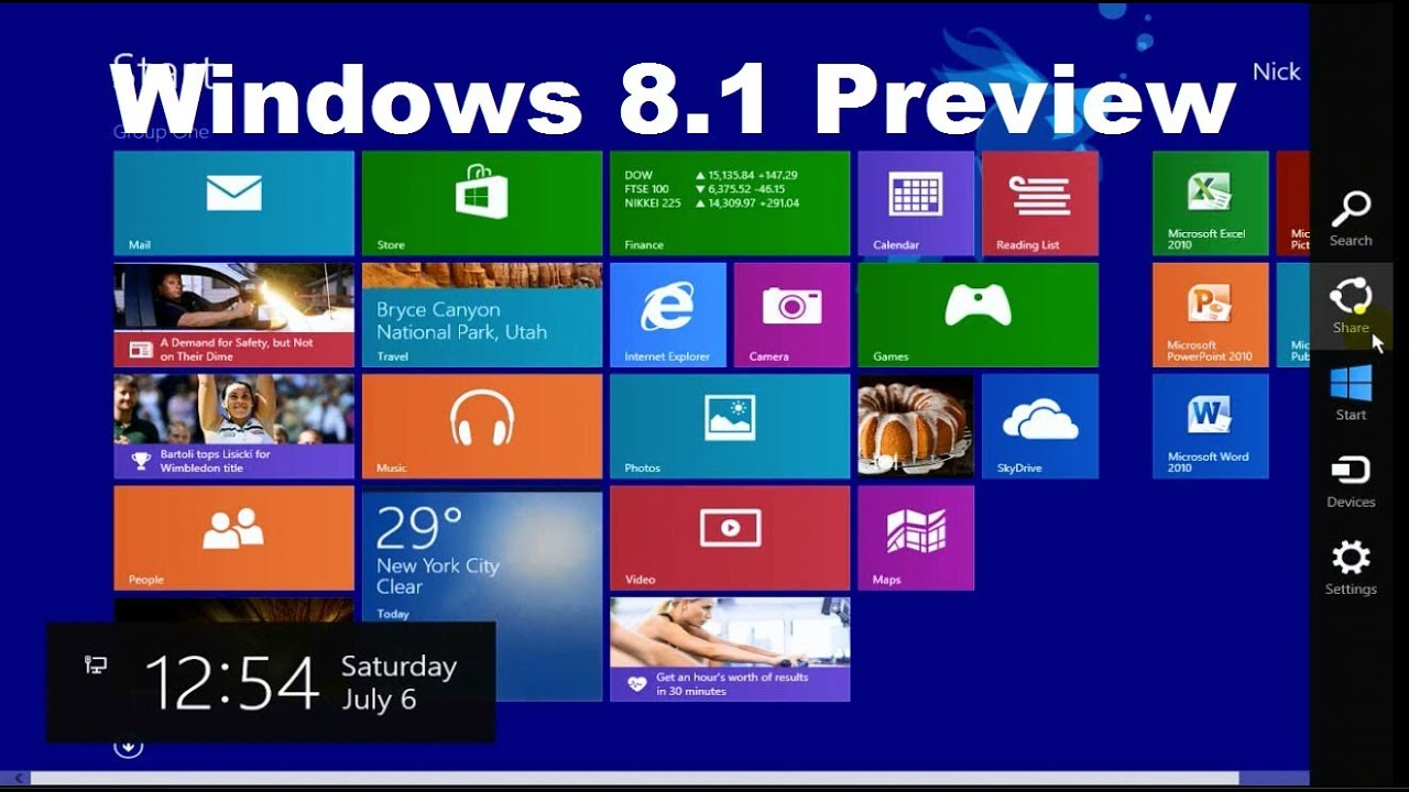 Windows 8.1 Preview Tricks & Tutorial Review - Beginners ...