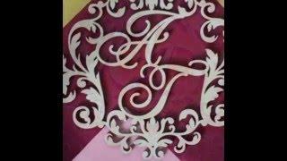 Монограммы (гербы) из дерева для декора свадьбы и дома