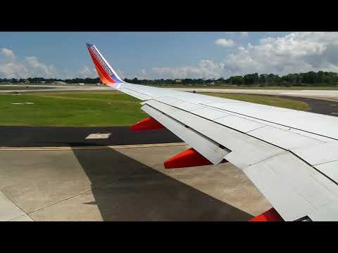Southwest Airlines 737-7H4 Takeoff from New Orleans