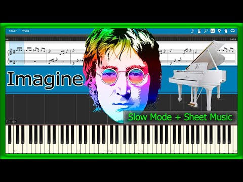 Imagine - John Lennon [Easy Mode + Sheet Music] (Piano Tutorial)