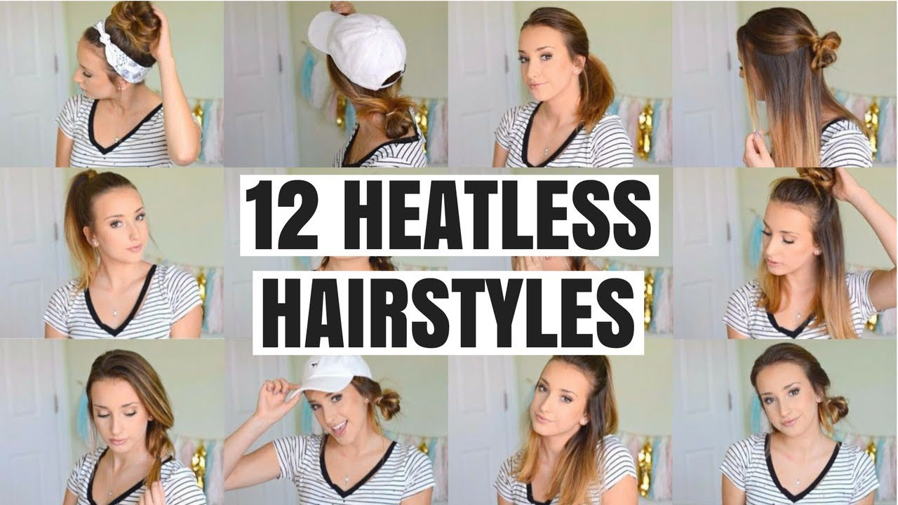 school hair style 12 easy heatless hairstyles for school 2 mins each 5446