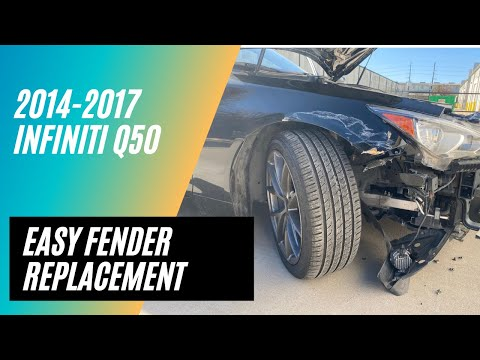 How to remove and install your 2014-2019 Infiniti Q50 Fender
