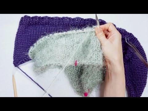 [WIP/이브냥은 작업 중] 퍼플B 풀오버 vs 옥처녀 풀오버 vs 마녀요리 풀오버, knitting pullovers, 뜨개수다, 힐링타임, 잠오는 영상