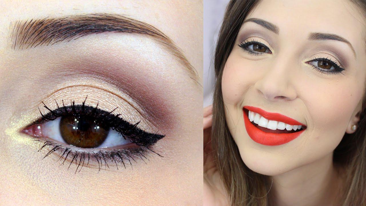 Maquiagem Simples Batom Vermelho