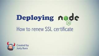 How to renew SSL certificate