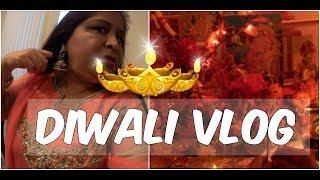 Diwali Vlog 2017 in Hindi   Outfit, Diyas, Food