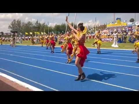 ขบวนพาเหรดในงานกีฬาจังหวัดจากโรงเรียนหารเทารังสีประชาสรรค์ จ.พัทลุง 05/8/59