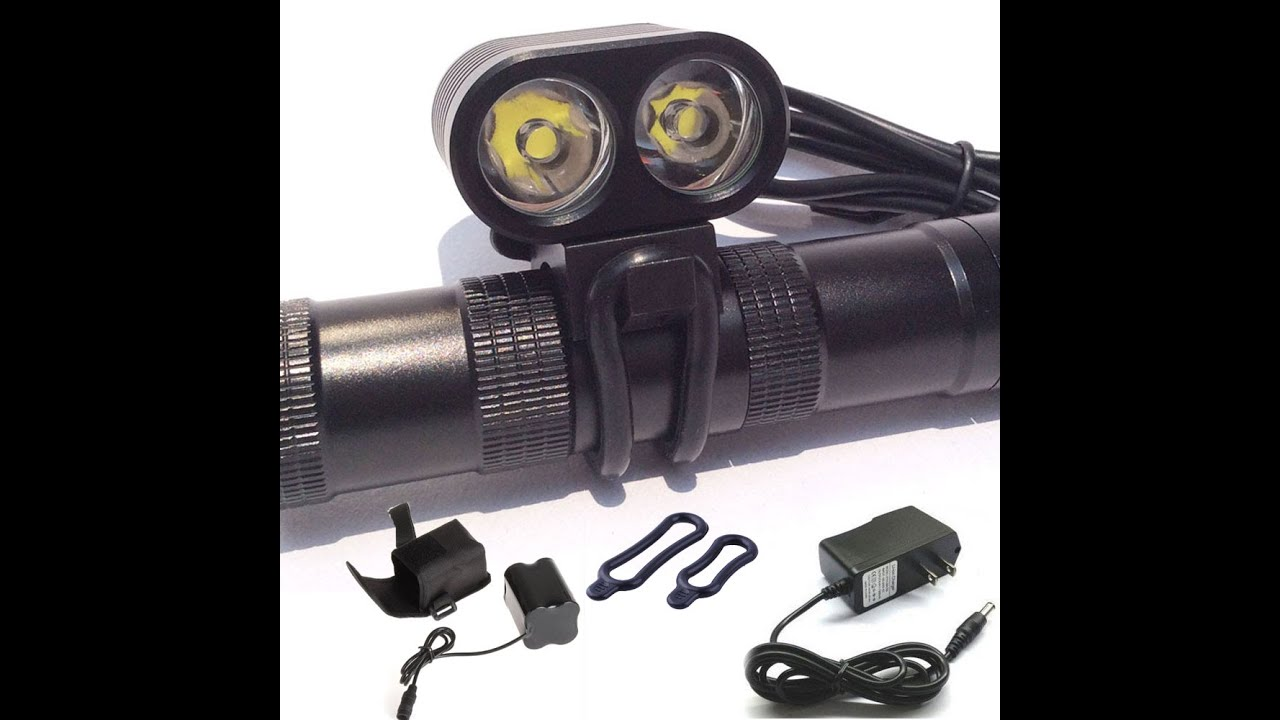 Front Bicycle Lamp Bike 6800 Lumens 2x Cree L2 Led From Aliexpress