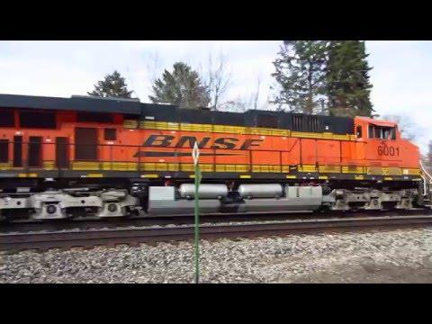 BNSF 6001 unit auto carrier train East