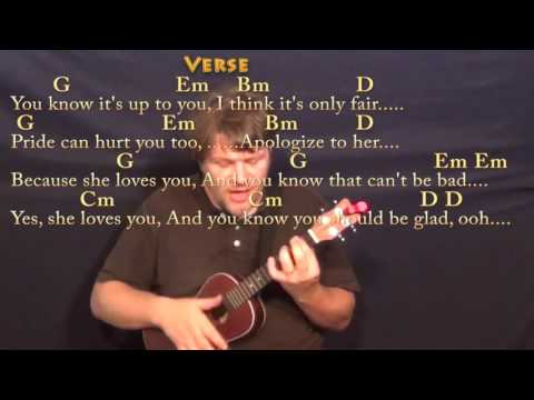She Loves You (Beatles) Ukulele Cover Lesson with Chords/Lyrics