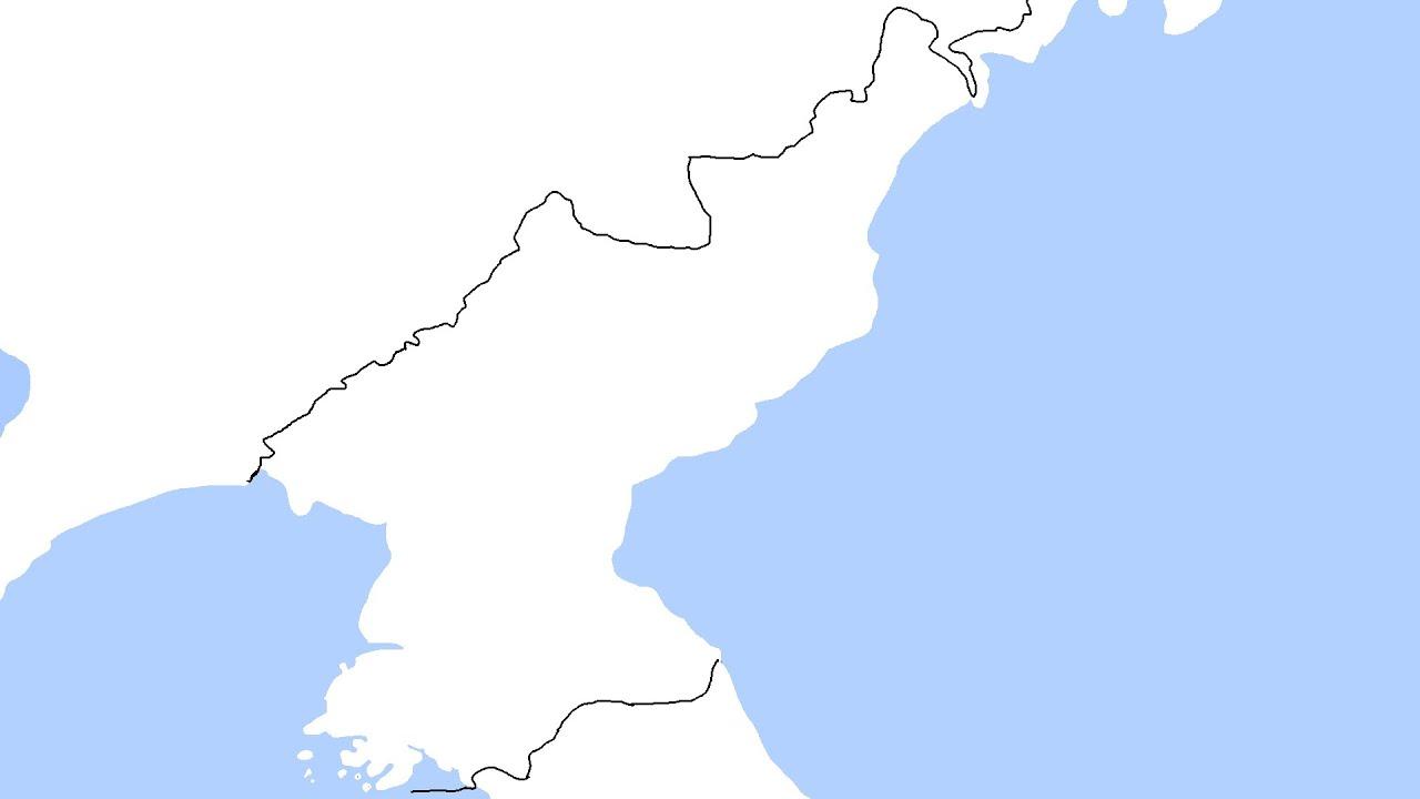 Speedart Blank Map Of North Korea YouTube - North korea map