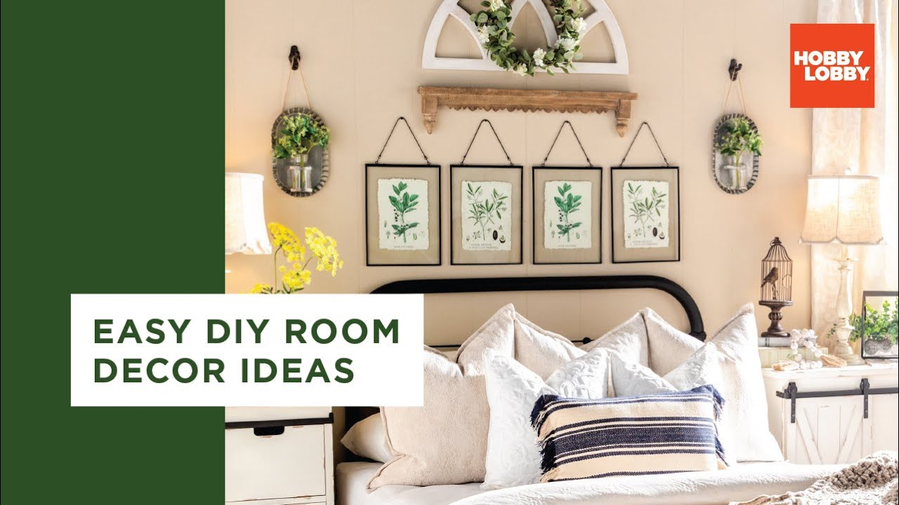 Easy Diy Room Decor Ideas Bohemian Farmhouse Hobby Lobby Youtube