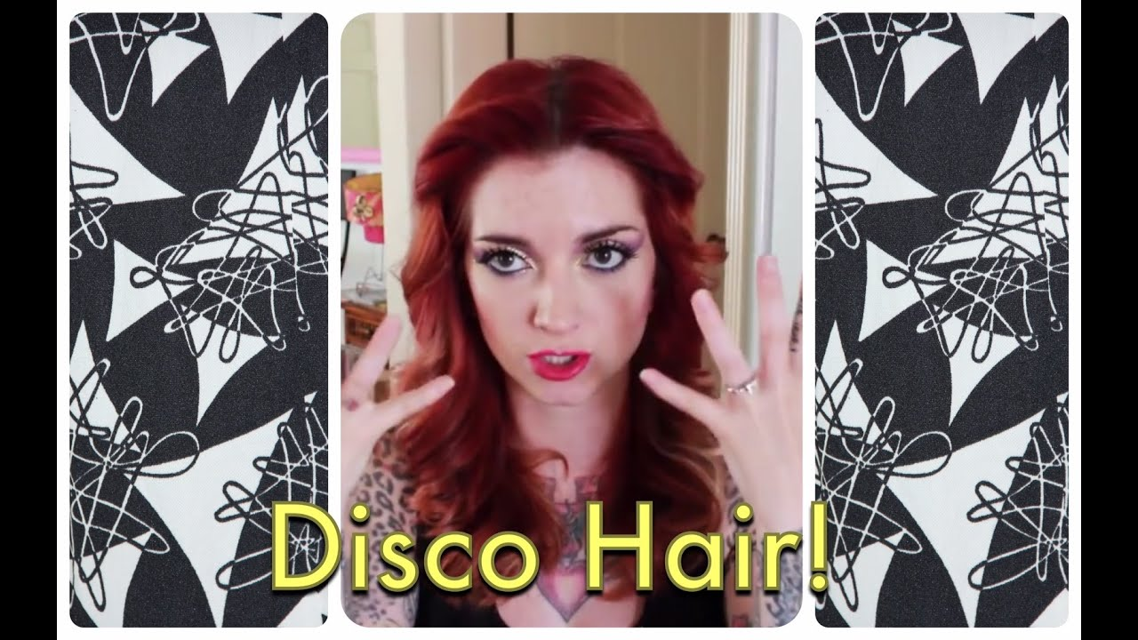 1970s disco feathered vintage hair