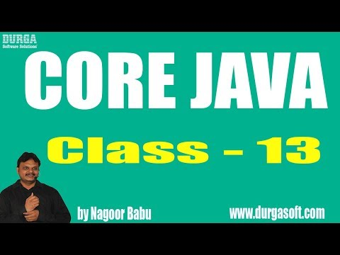 Learn Core Java Programming Tutorial Online Training by Nagoor Babu Sir On 20-03-2018