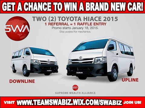 2015 PROMO  WIN a Free Toyota Hi Ace in SWAPI JOIN US ASAP!
