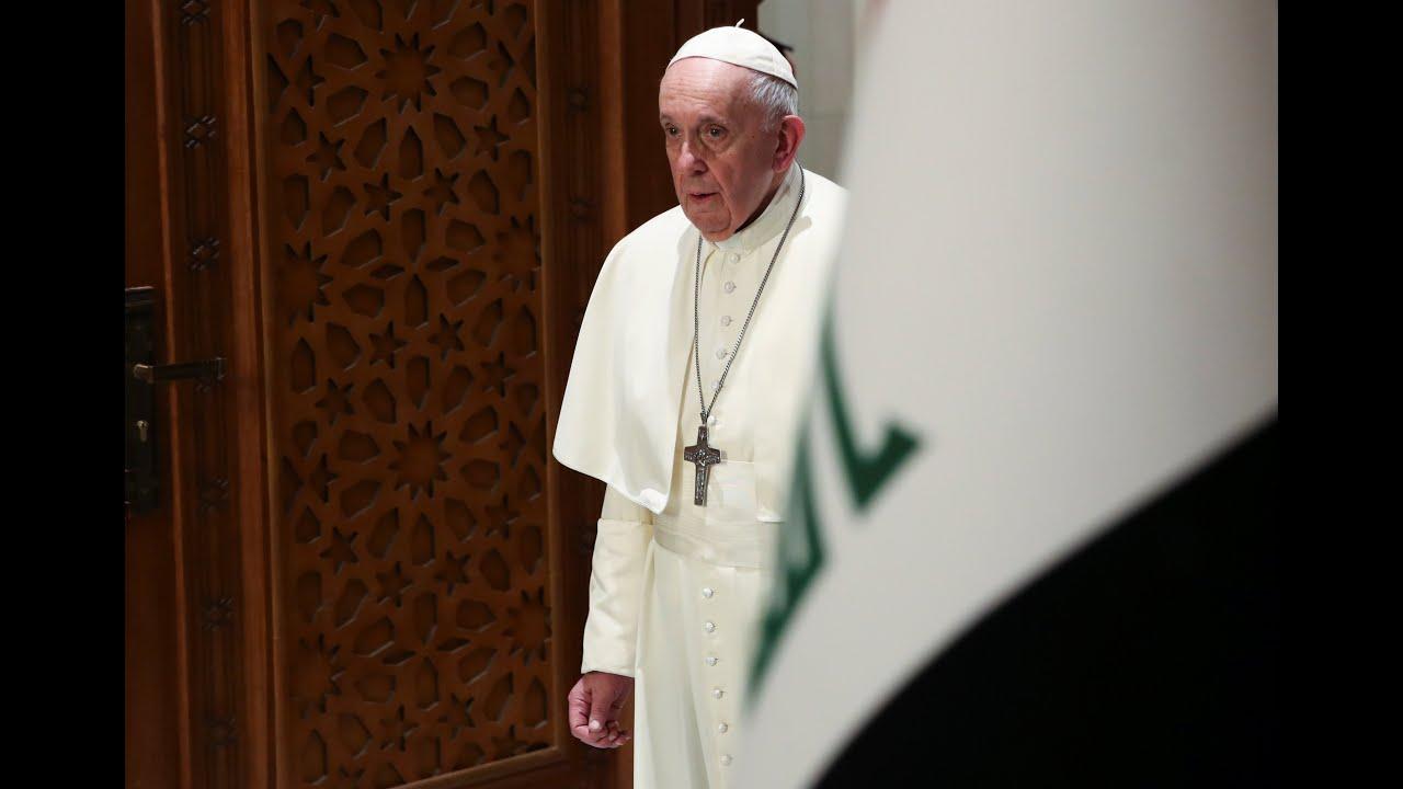 برهم صالح في استقبال البابا فرنسيس لا يمكن تصور الشرق من دون مسيحيين  - 18:59-2021 / 3 / 5