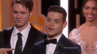 Mr. Robot Wins Best TV Series, Drama at the 2016 Golden Globes (full version)