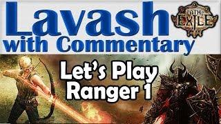 ➜ Path of Exile Gameplay (#24 - Ranger1) The Fellshrine Ruins to the Crypt Level 1