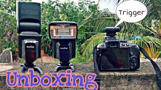 Unboxing Godox TT520 II camera Flash with Trigger