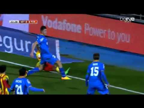 Neymar (FC Barcelona) injury himself vs Getafe (Copa del Rey 2014)