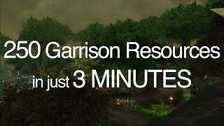250 Garrison Resources In 3 Minutes Patch 6.2 Wod/wow Tanaan Jungle