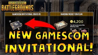 New PUBG Gamescom Invitational Crate Is Here!! Previewing & Opening Crate Items!!