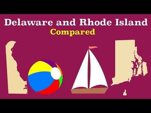 Delaware and Rhode Island Compared