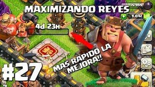 Mejorando el Rey Bárbaro a Nivel 28 + Estrategia! - MAXIMIZANDO LOS REYES AL 30 - CLASH OF CLANS