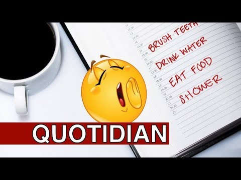 Learn English Words - QUOTIDIAN - Meaning, Vocabulary With Pictures And Examples