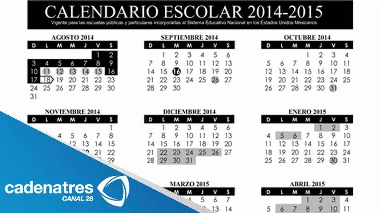 Calendario 18 19 Sep.Sep Publica Calendario Escolar Del Periodo 2014 2015 Ep Public School Calendar 2014 2015 Period