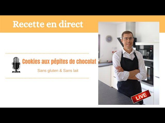 Cookies moelleux au pépites de chocolat sans gluten
