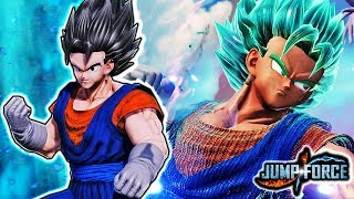 NEW VEGITO IN JUMP FORCE! Vegito Blue Transformation Gameplay Mod (ALL TRANSFORMATIONS SSJ & SSGSS)