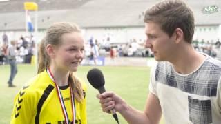 NK Veldkorfbal 2016 Interview Sanne Maaike Nieuwenhuizen
