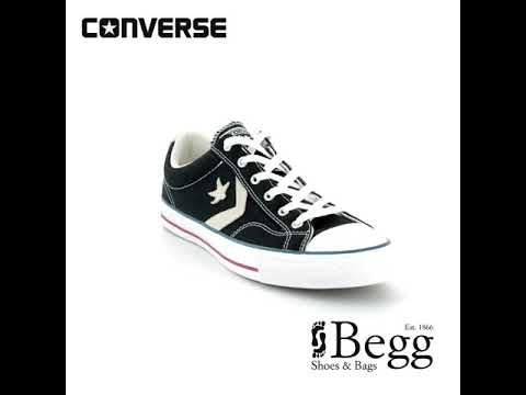 1704956d8a19 Converse Star Player Ox 144145C Black trainers - YouTube
