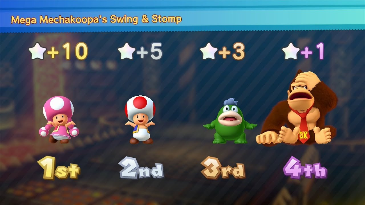 Mario Party 10 Mario Party #254 Toad vs Toadette vs Spike ...