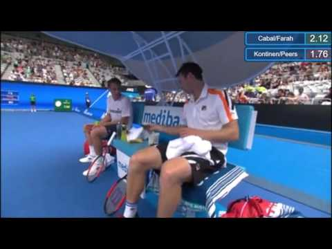 kontinen/peers vs cabal/Farah - Australian Open (incomplete)