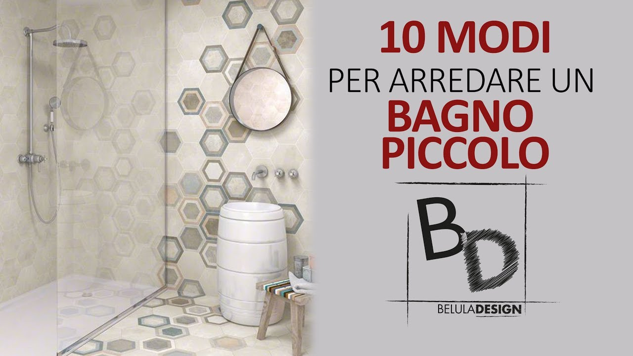 10 MODI per arredare un BAGNO PICCOLO  Belula Design  YouTube